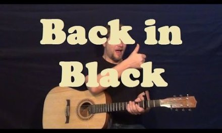 Back In Black (AC/DC) Guitar Lesson Licks Chords Strum How to Play Back in Black Tutorial