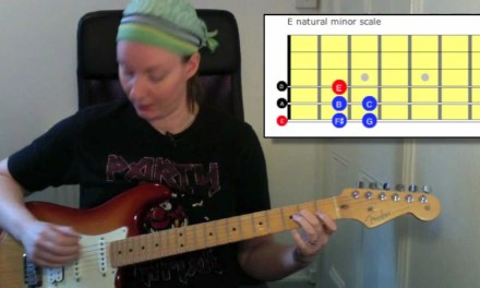 Beginners guitar lesson: E natural minor scale Rockschool guitar grade 2 technical exercises