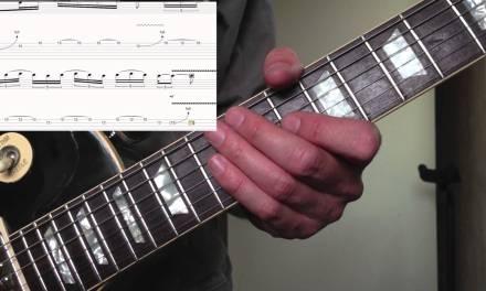 Guitar Lesson – Dm Blues lick using Blues scale