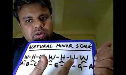 Lesson 28 – Building Minor Scale & Minor Chord on Guitar (In Malayalam)