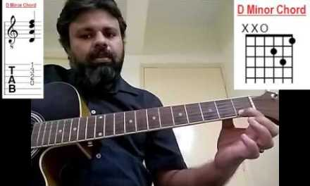 Lesson 20 – Building Minor Chord (Guitar) | Three New Minor Chords (Malayalam)
