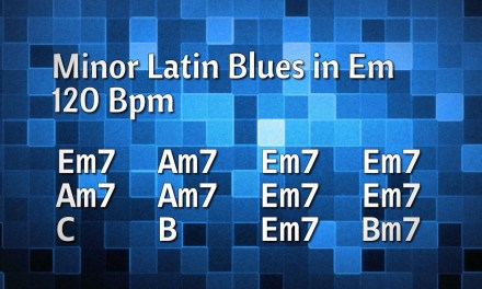 Albert King Style Minor Latin Blues Backing Track in Em – 120 Bpm