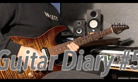 Guitar Diary #5 : Aeolian Mode, Fusion Legato Series  I Free Backing Track & Sheet