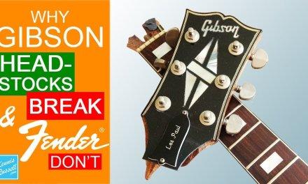Why Gibson Headstocks Break So Easily, but Fenders Don't