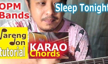 December Avenue: Sleep Tonight OPM guitar tutorial Karaoke Chords