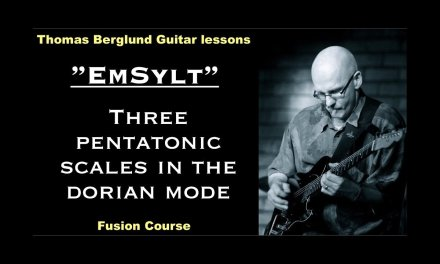 "Em sylt ""Three pentatonic scales in the dorian mode"" – Fusion Guitar lesson"