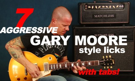 7 killer aggressive licks in the style of Gary Moore rock blues guitar lesson (with tabs)