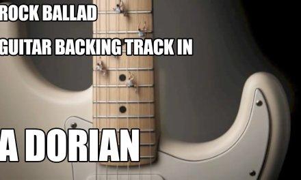 Rock Ballad Guitar Backing Track In A Dorian