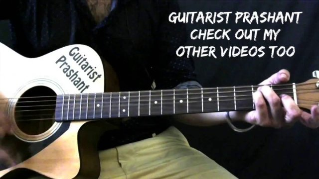 19 – Tu Tu Hai Wahi – Ye Vaada Raha – Guitar Lesson – Chords ...
