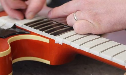 Gibson Chet Atkins repair part 2 how to level & crown the frets
