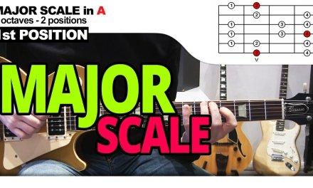 Major Scale – Guitar Lesson