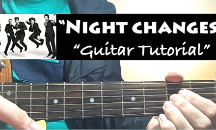 """""""NIGHT CHANGES"""" – One Direction Guitar Tutorial (Lesson) with Chords"""