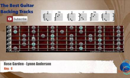 Rose Garden – Lynne Anderson Guitar Backing Track with scale and chords