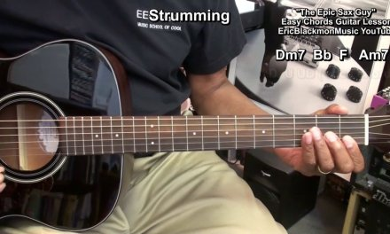 EPIC SAX GUY Guitar Chords, Strumming Rhythm Lesson EricBlackmonGuitar HD