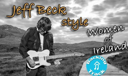 Jeff Beck Style (Women of Ireland) Backing Track in Bm