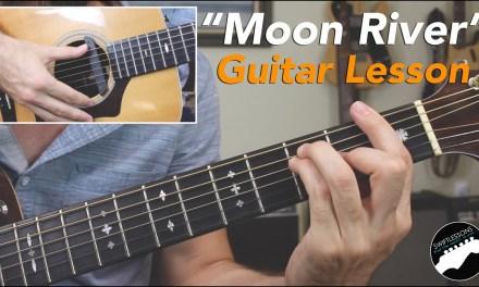 "Audrey Hepburn ""Moon River"" Guitar Lesson (Breakfast at Tiffany's)"