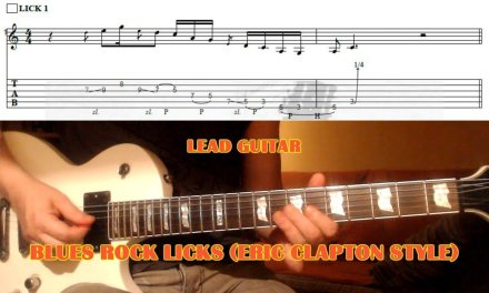Blues Rock Pentatonic Licks (Clapton Style) GUITAR LESSON with TAB
