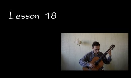 "Lesson 18 Classical Guitar ""Mixed Legato. Syncopation"""