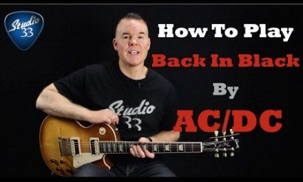 AC/DC Back In Black Guitar Lesson/ Tutorial – Easy Electric Guitar