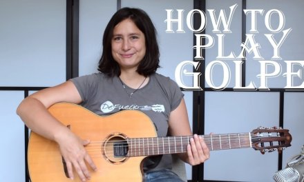 How to play golpe – Hits in Spanish or flamenco guitar