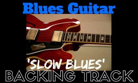 'Slow Blues' Guitar Backing Track Jam Along