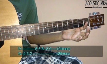 Banjaara Guitar Tabs/Lead (Full Easy Guitar Lesson)   Ek Villain   By Acoustic Imran