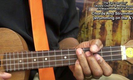 EPIC SAX GUY Ukulele Chords & Melody Lesson EricBlackmonGuitar HD