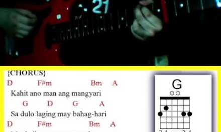 Ikaw at Ako Pa Rin by TJ Monterde feat. KZ Tandingan – Guitar Chords