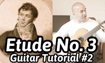 Etude No. 3, Op. 35 | Fernando Sor | Classical Guitar Tutorial#2 | Free Tabs
