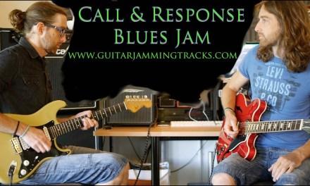 Blues Guitar Call and Response Jam in C with Danny and Dan