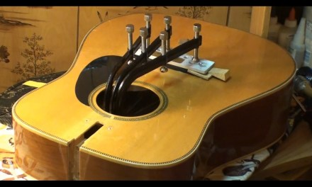 Acoustic Guitar Bridge installation Repair  Echowebb