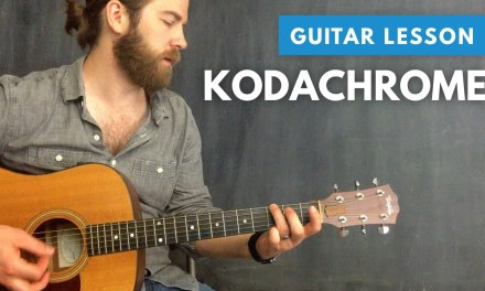 """How to play """"Kodachrome"""" by Paul Simon (cover & guitar lesson)"""