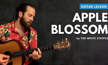 "Guitar lesson for ""Apple Blossom"" by The White Stripes (acoustic)"