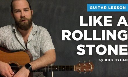 """Guitar lesson for """"Like a Rolling Stone"""" by Bob Dylan"""