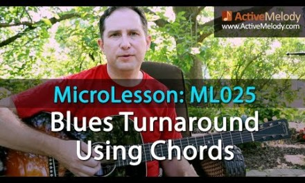 Learn a Blues Turnaround in the key of A (Easy to Transpose) – Guitar Lesson – ML025