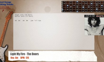 Light My Fire – The Doors Guitar Backing Track with chords and lyrics