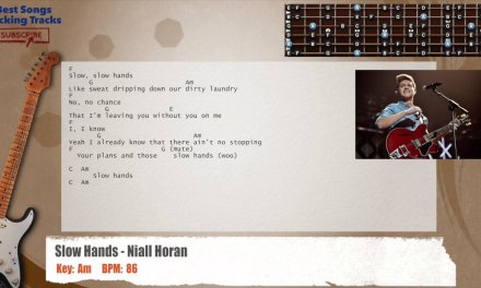 Slow Hands – Niall Horan Guitar Backing Track with chords and lyrics