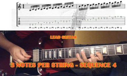 3 Notes Per String SEQUENCE 4 – GUITAR LESSON with TAB – Alternate Picking Scale