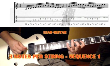 3 Notes Per String SEQUENCE 1 – GUITAR LESSON with TAB – Alternate Picking / Legato / Tapping