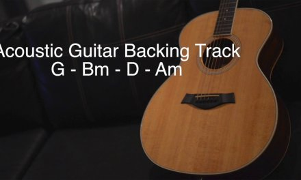Acoustic Guitar Backing Track (G-Bm-D-Am)