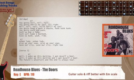 Roadhouse Blues – The Doors Bass Backing Track with chords and lyrics