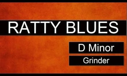 RATTY BLUES Guitar Backing Track Jam in D Minor – Grinder