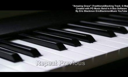 AMAZING GRACE Traditional Backing Track 3/4 Time G Major – EricBlackmonGuitar Band In A Box HD