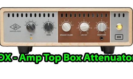 OX – Amp Top Box Attenuator by Universal Audio – Summer NAMM 2017