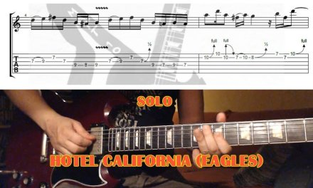 Hotel California SOLO (Eagles) GUITAR LESSON with TAB