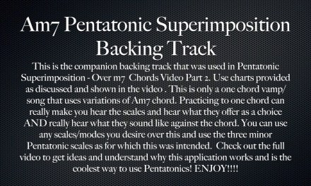 Pentatonic Superimposition – Guitar Lesson Part 2 – Over m7 Chords – BACKING TRACK