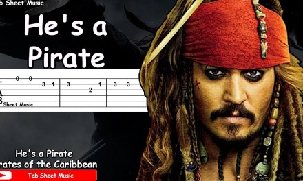 Pirates of the Caribbean – He's a Pirate Guitar Tutorial