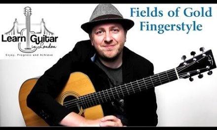 Fields Of Gold – Fingerstyle Guitar Tutorial – Sting – Part 1 – Drue James