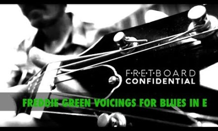 FREDDIE GREEN GUITAR VOICINGS FOR BLUES IN E