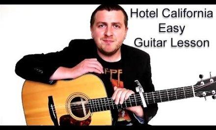 Hotel California – Easy Beginner Acoustic Guitar Lesson – The Eagles – Drue James
